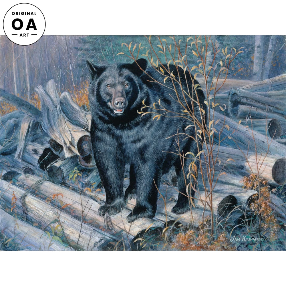 Ant Hunter-Black Bear Original Acrylic Painting