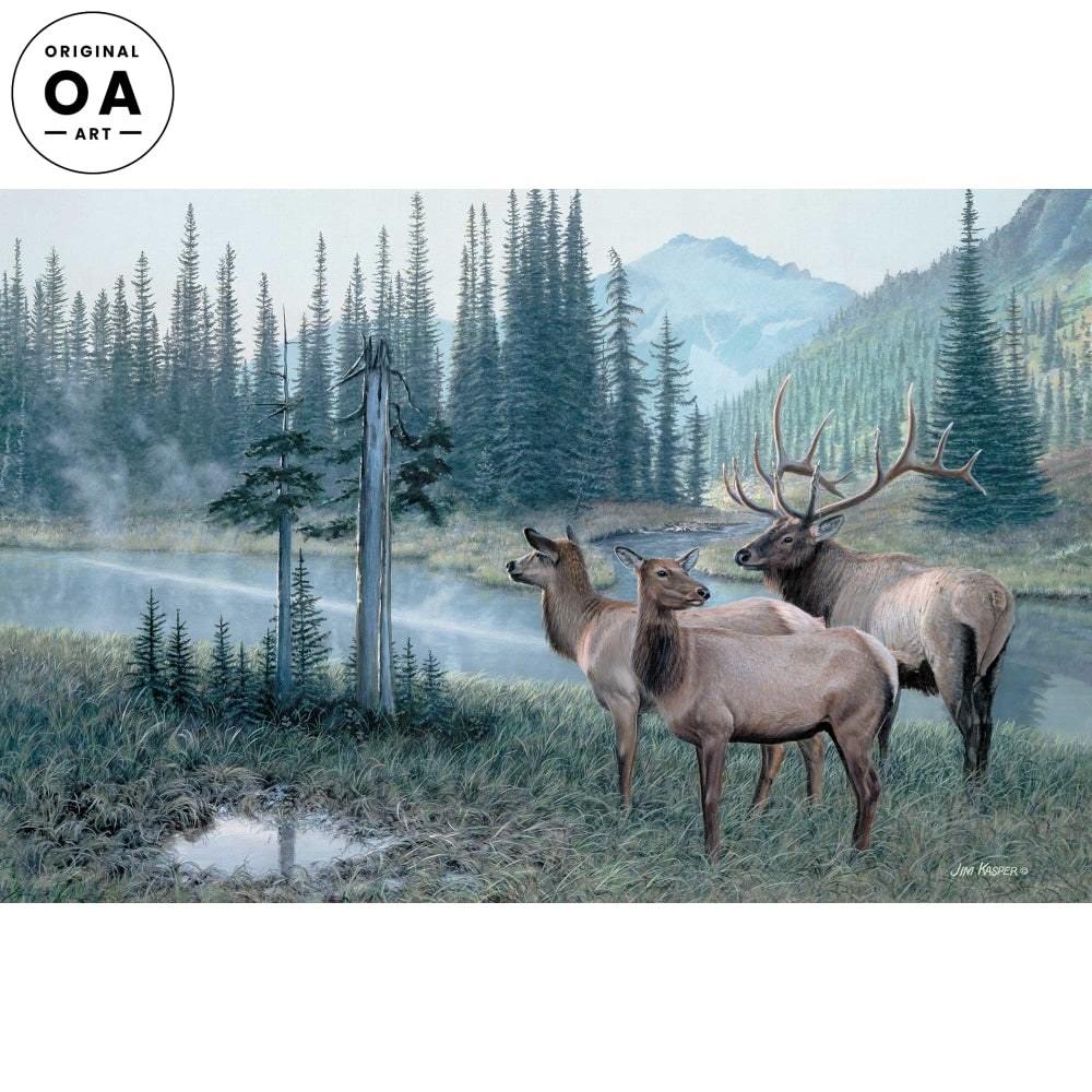 <i>Coming Together&mdash;Elk</i> Original Artwork