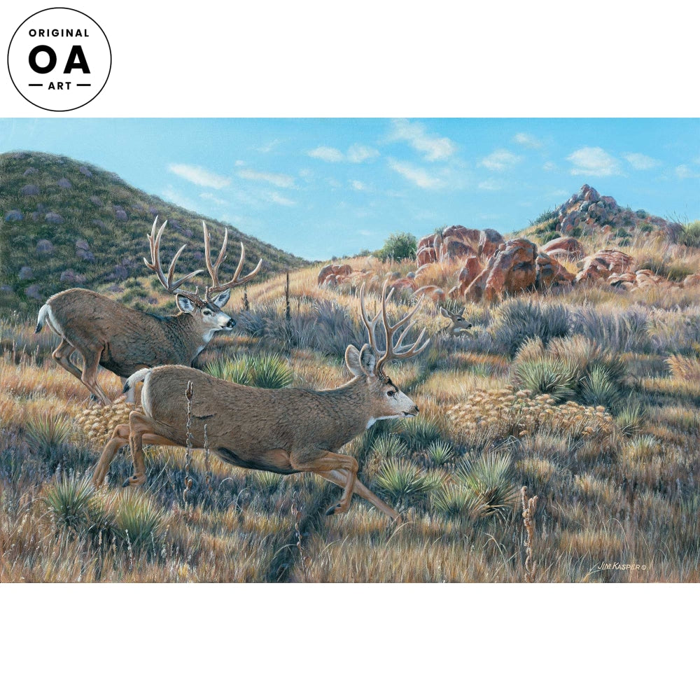 <i>In Pursuit&mdash;Mule Deer</i> Original Artwork