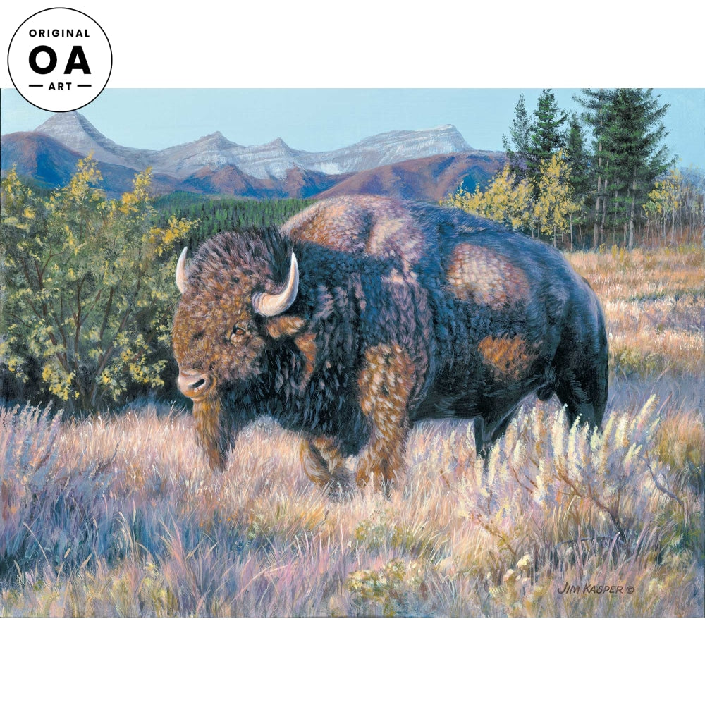 <i>Lone Bull&mdash;Bison</i> Original Artwork