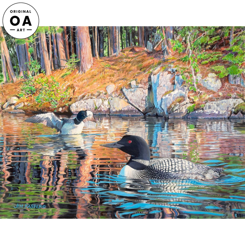 <i>Quiet Day Reflections&mdash;Loons</i> Original Artwork