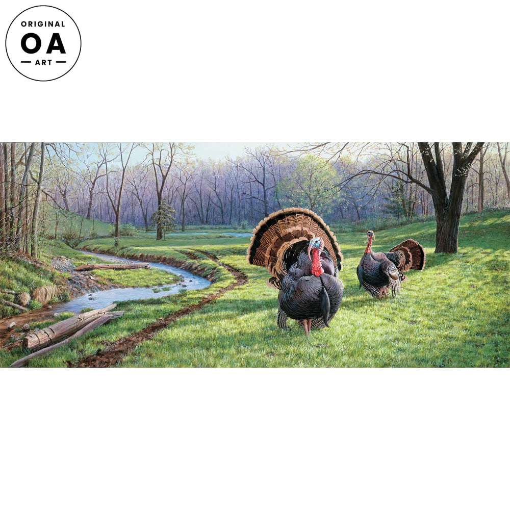 <i>Spring Fed&mdash;Turkeys</i> Original Artwork