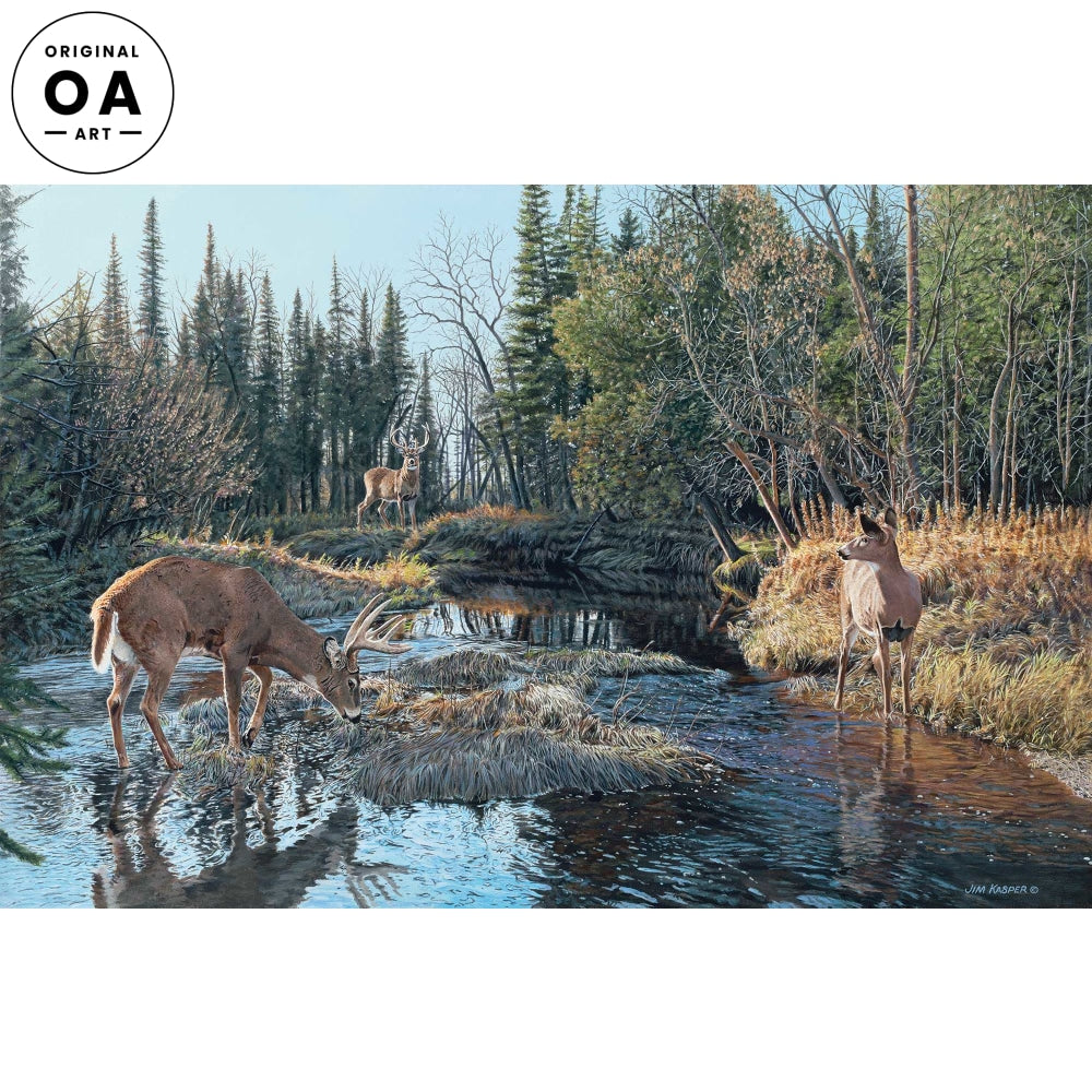<i>Trespassing&mdash;Whitetail Deer</i> Original Artwork