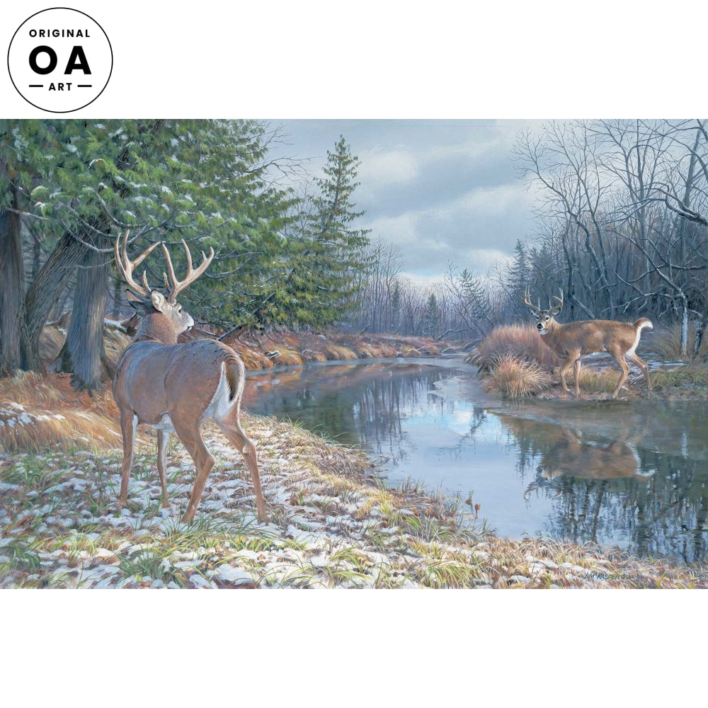 I Dare You-Whitetail Deer Original Acrylic Painting