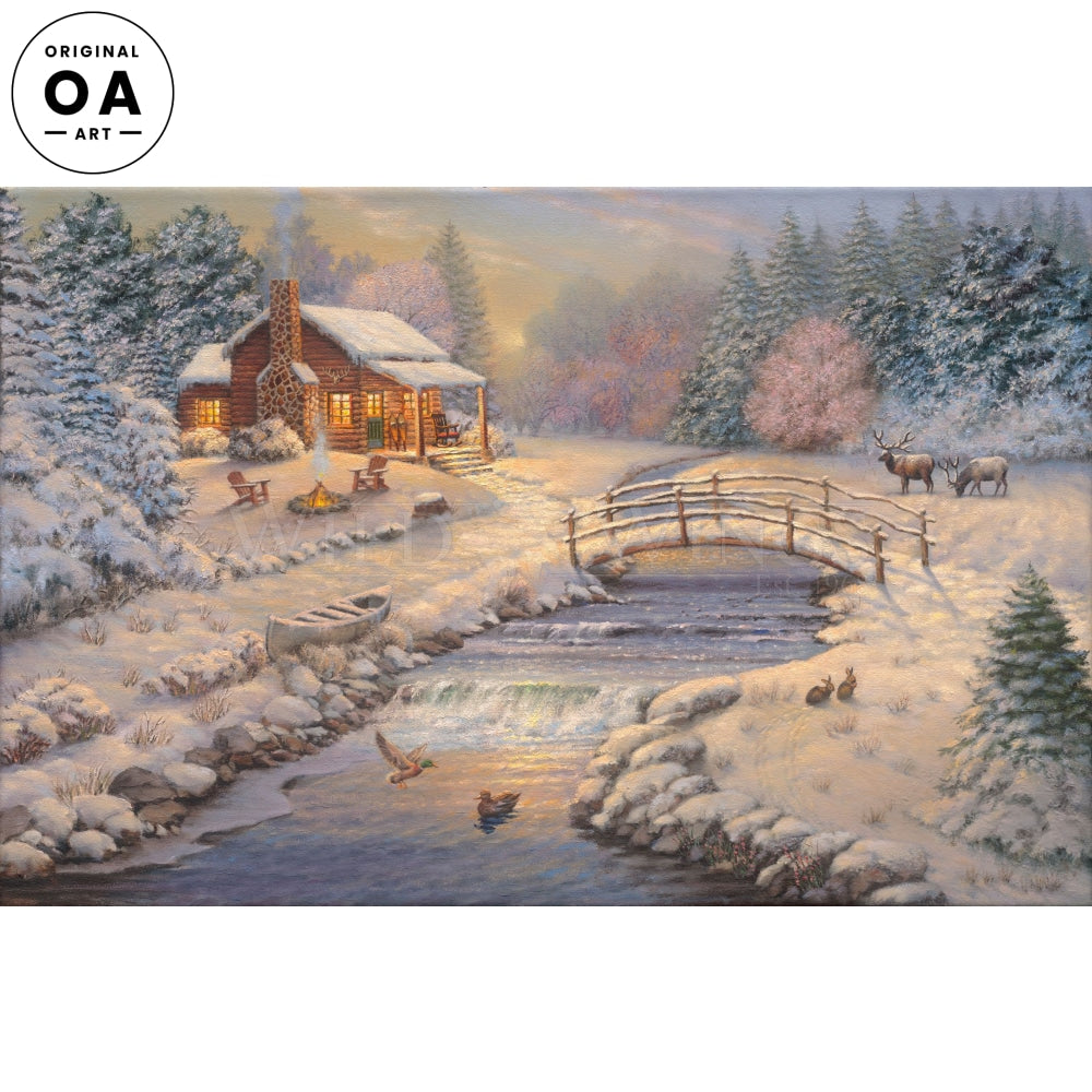 A Winter Retreat Original Art