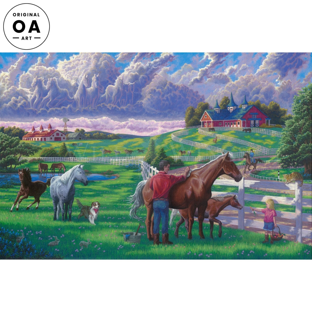 Kentucky Bluegrass—Horses Original Art