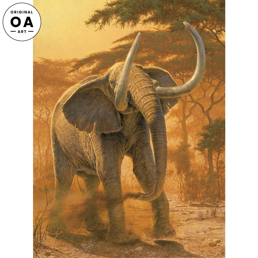<i>Golden Warrior&mdash;Elephant</i> Original Artwork