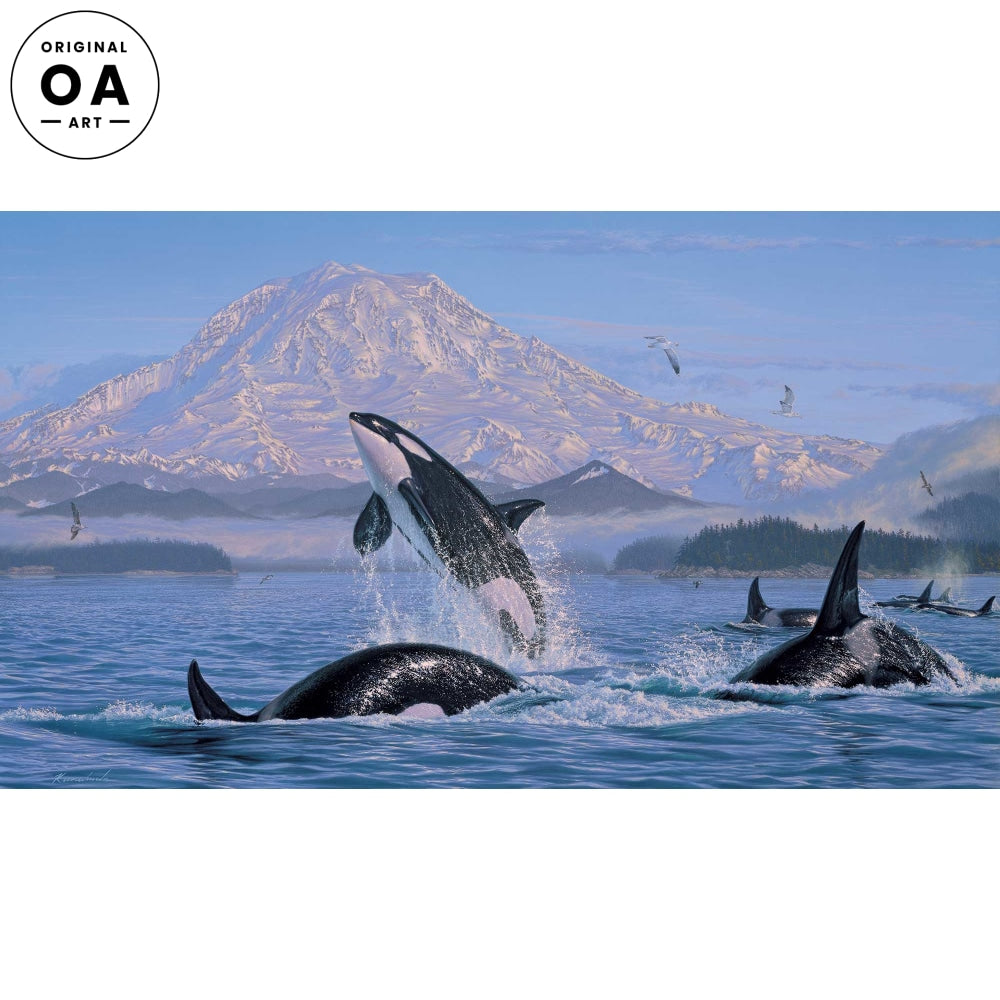 <i>On the Pacific Rim&mdash;Orcas</i> Original Artwork