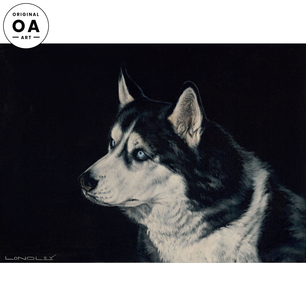 <i>Old Blue Eyes&mdash;Siberian Husky</i> Original Artwork