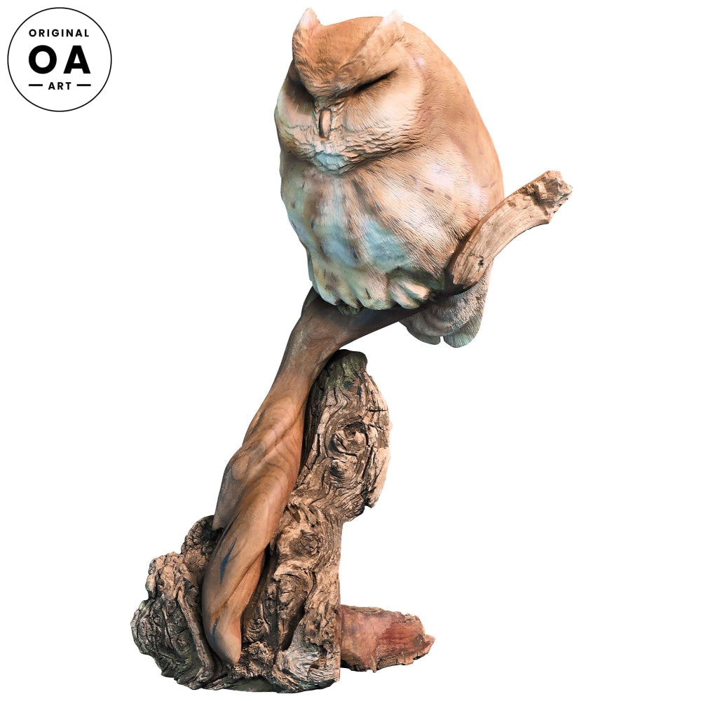 <i>Cheshire Screech Owl</i> Original Sculpture