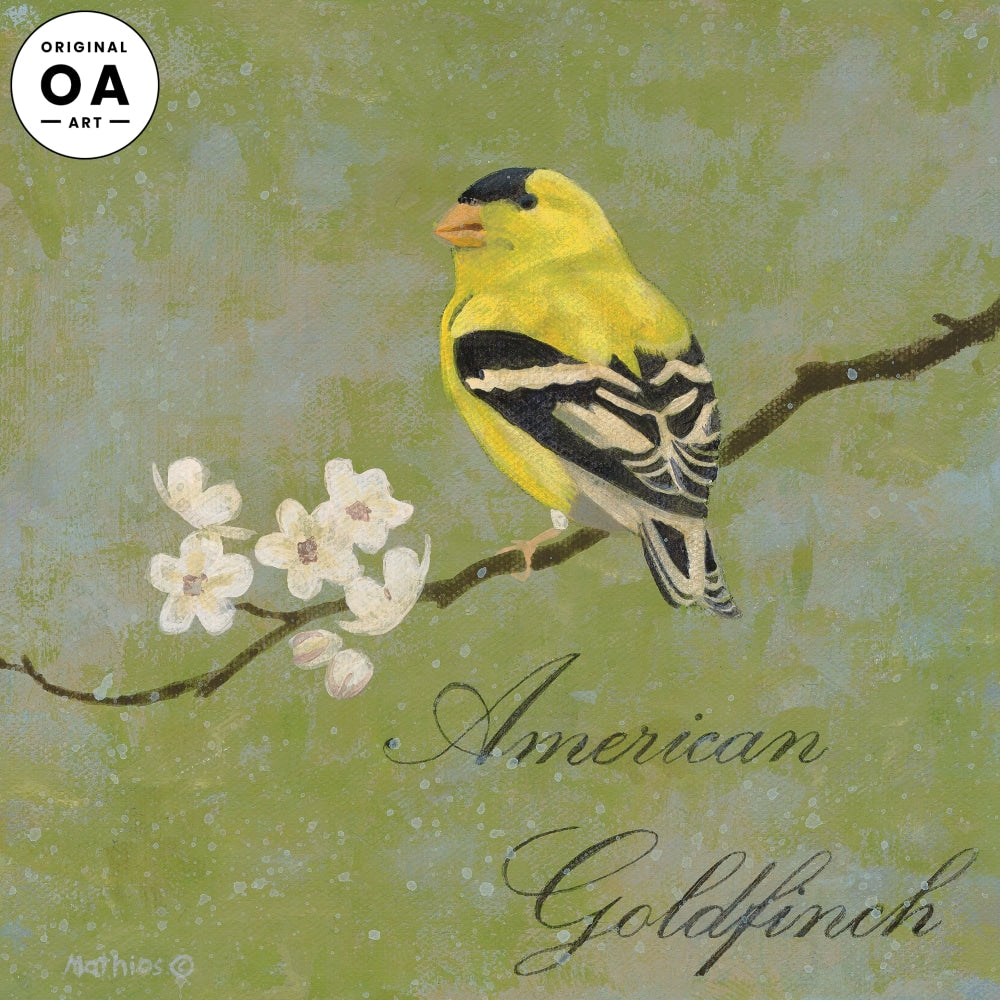 American Goldfinch Original Acrylic Painting