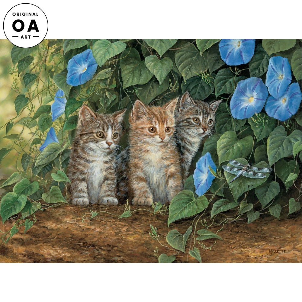 <i>Triple Trouble&mdash;Kittens Millette</i> Original Artwork