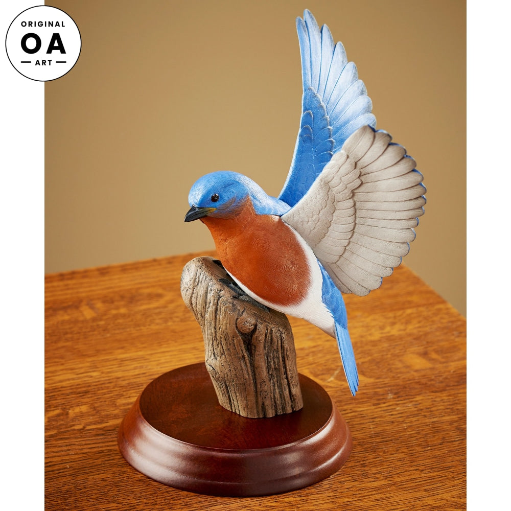 Bluebird Original Wood Carving