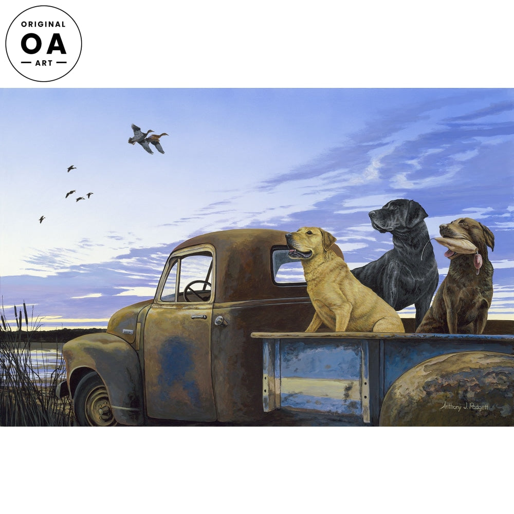 Full Load—Labrador Retrievers Original Artwork