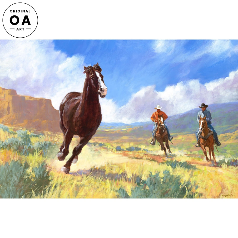 <i>The Wild One&mdash;Horse & Cowboys</i> Original Artwork