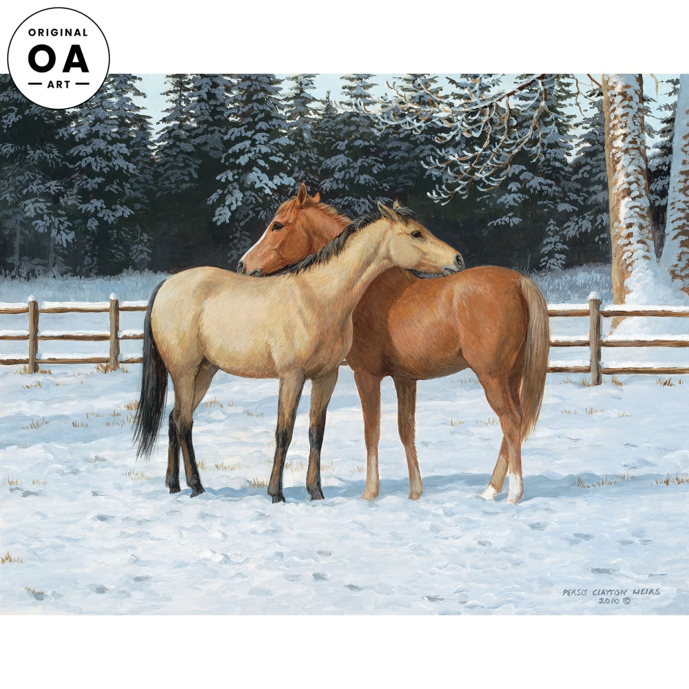 Cold Comforts—Horses Original Artwork
