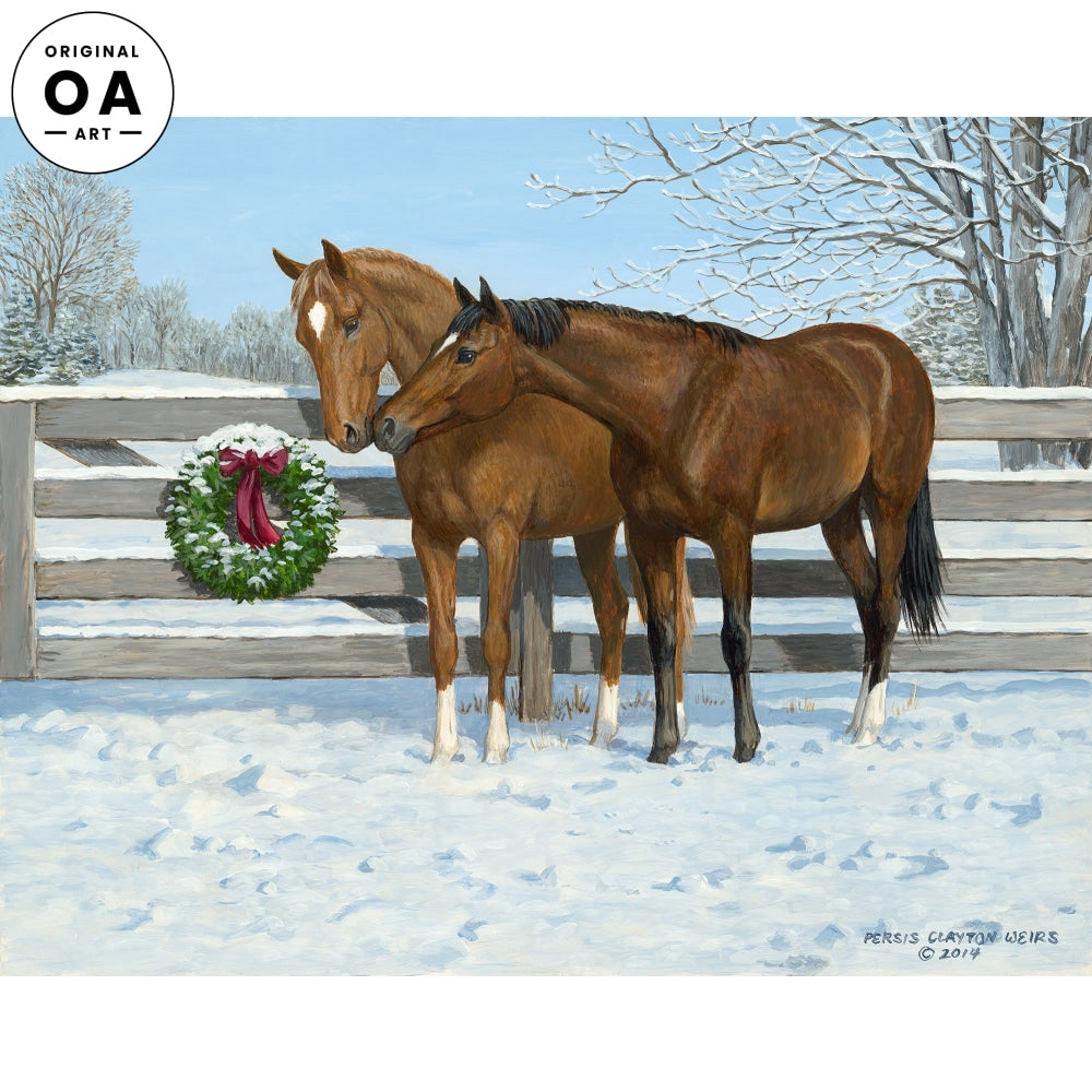 Colts in Winter—Horses.