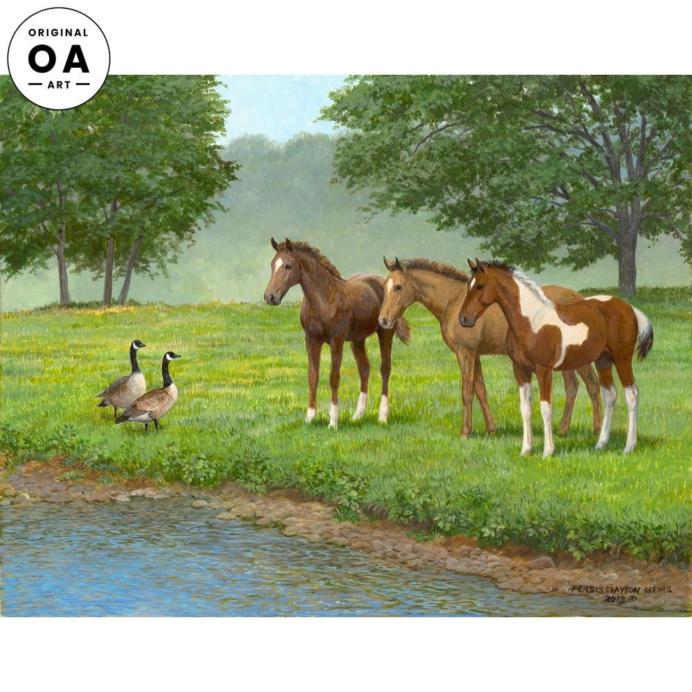 Curiosity— Horses Original Artwork