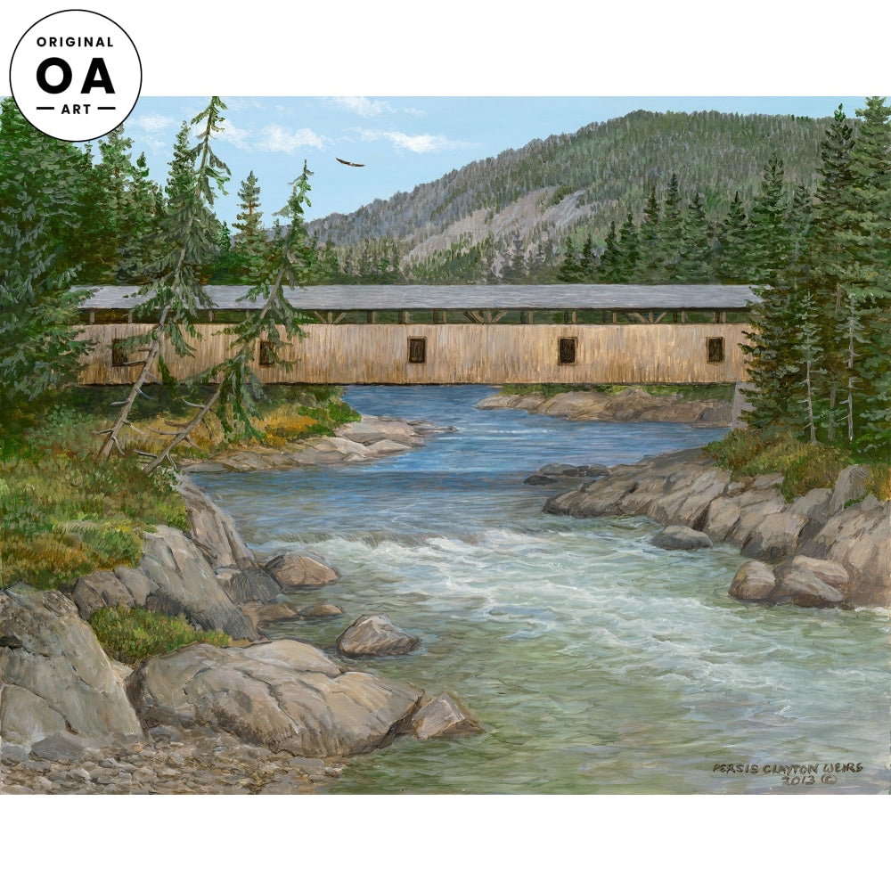 Hunting the River—Covered Bridge.