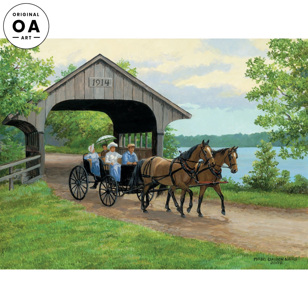 Lakeside Drive—Horse Drawn Carriage.