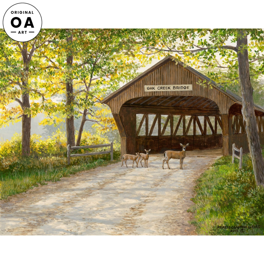 Late Summer—Covered Bridge Original Artwork