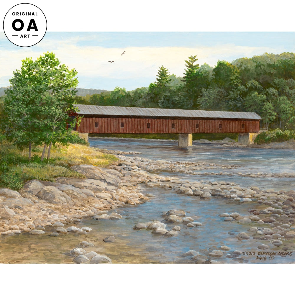 Ospreys at Play—Covered Bridge Original Artwork