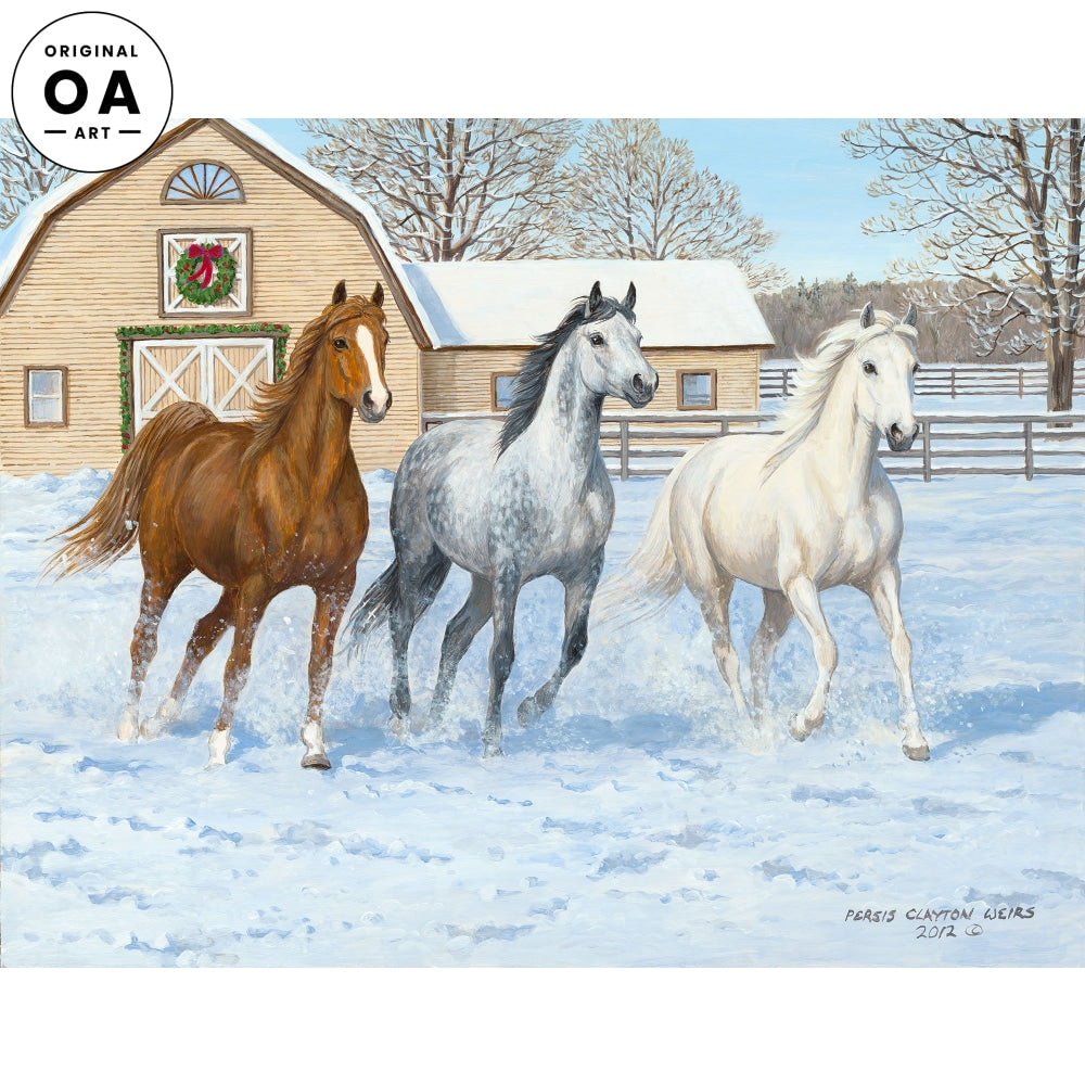 Paddock Games—Horses Original Artwork