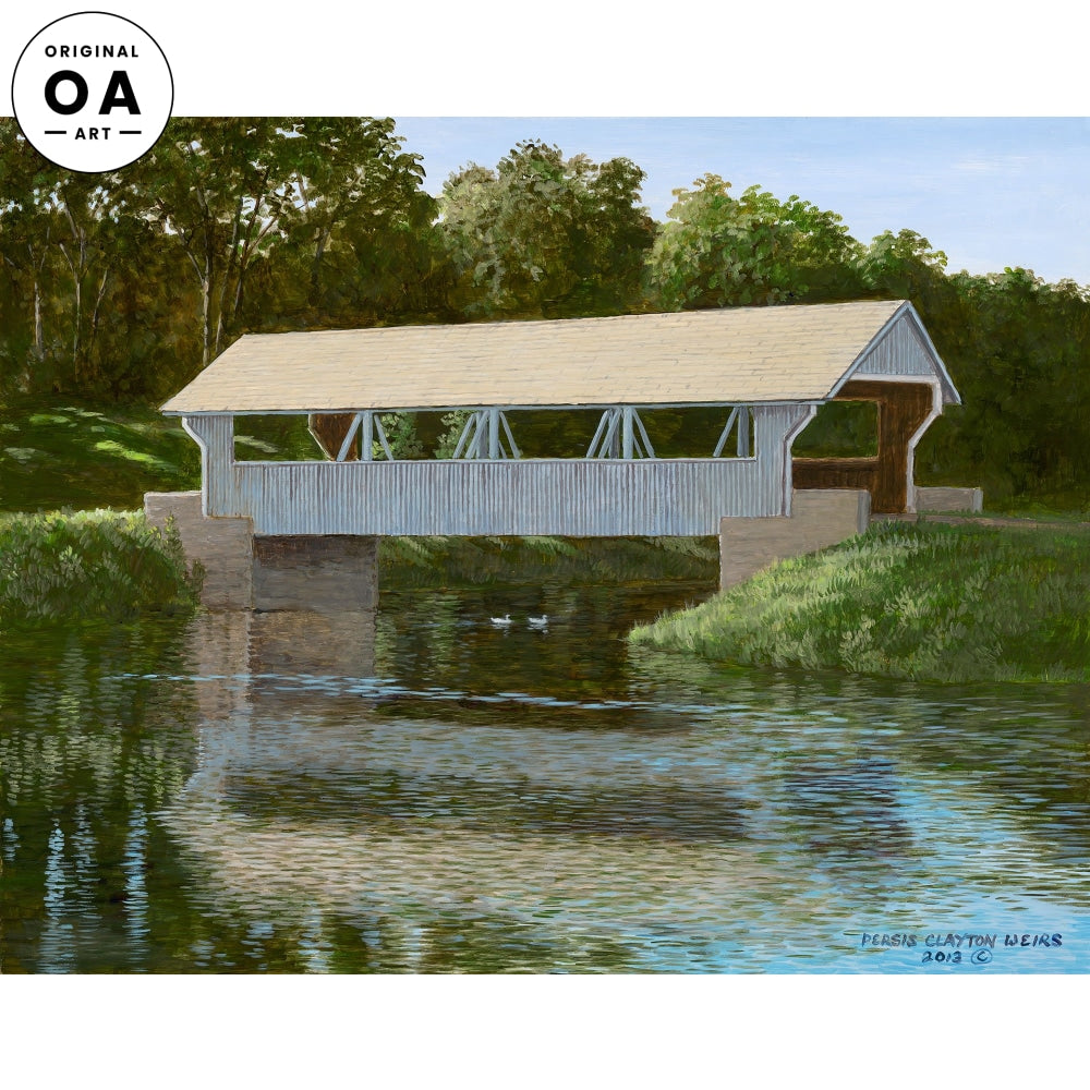 Quiet Morning—Covered Bridge Original Artwork
