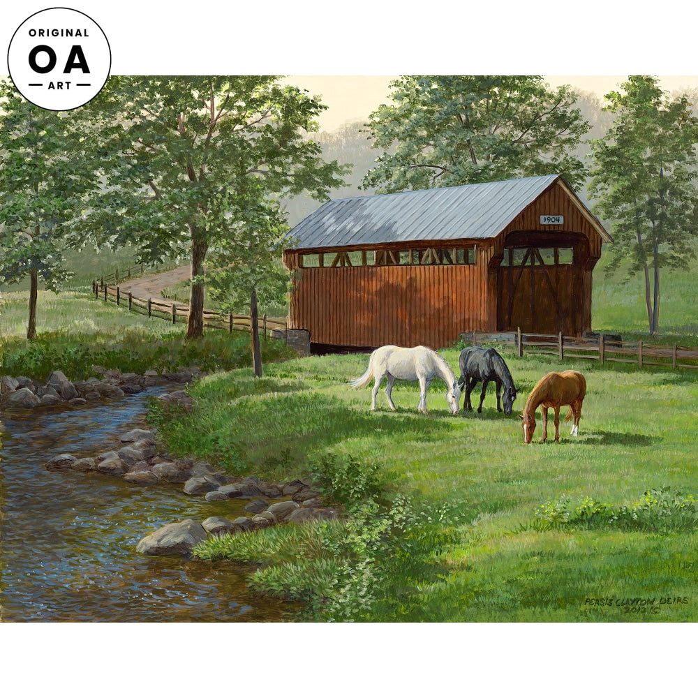 Summer Afternoon—Horses Original Artwork