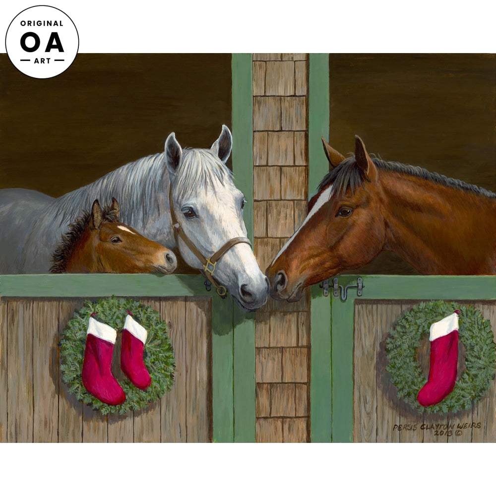 Seasons Greetings—Horses Original Artwork