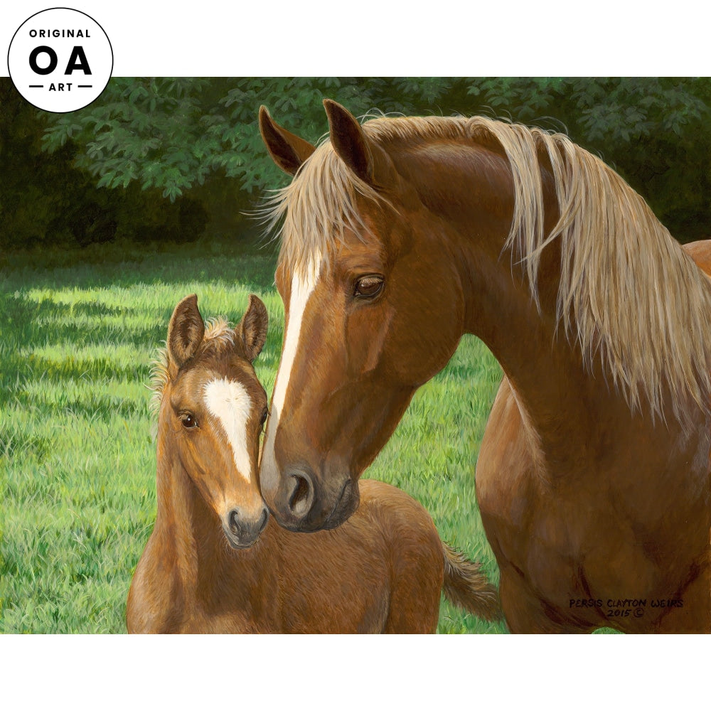 Sweet Faces—Mare and Foal Original Artwork