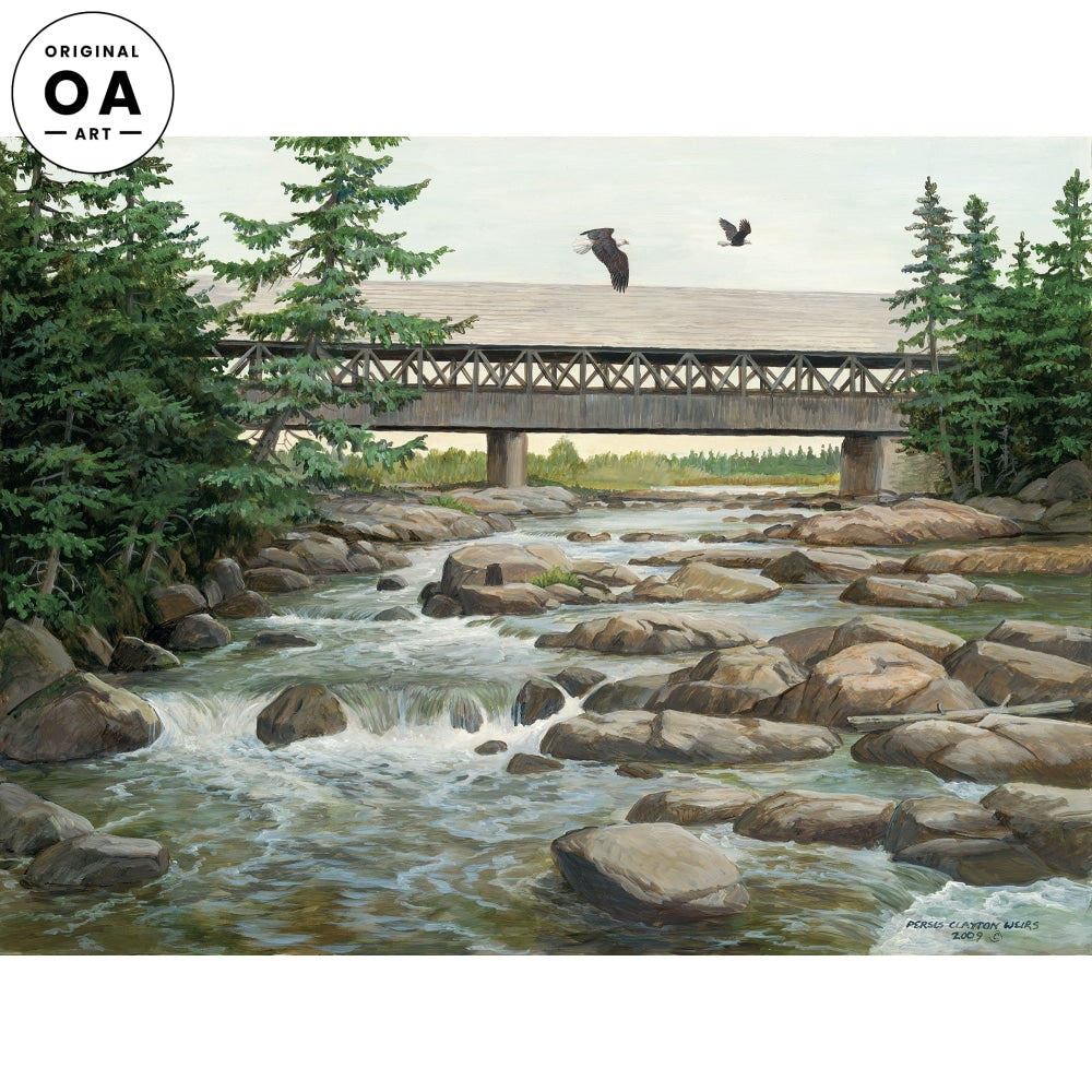 Swift River—Bald Eagles Original Artwork