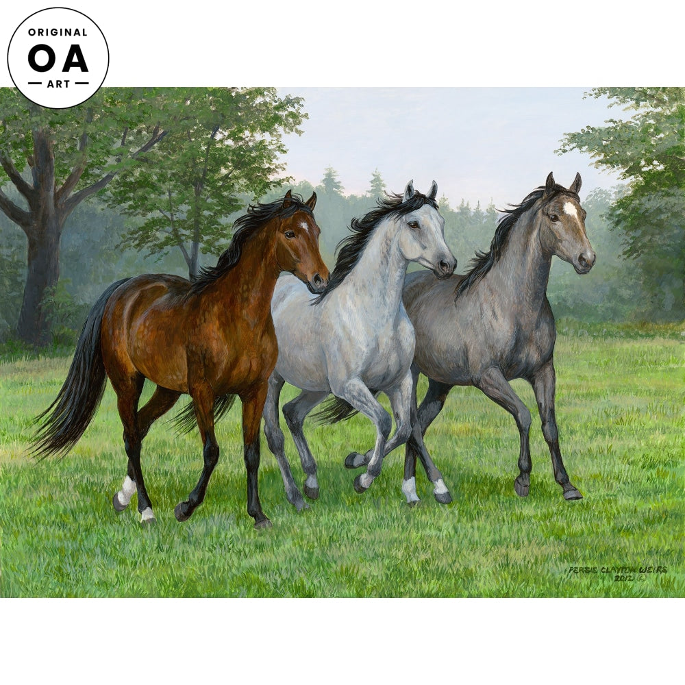 Three Arabs—Horses Original Artwork