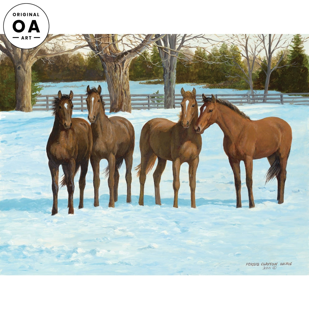 Two Year Olds—Horses Original Artwork
