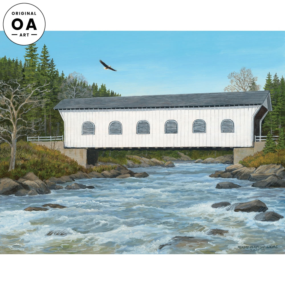 West Branch Bridge—Covered Bridge Original Artwork