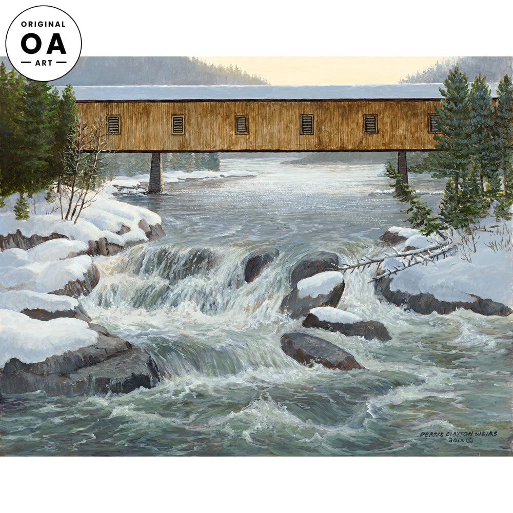 Winter River Original Artwork