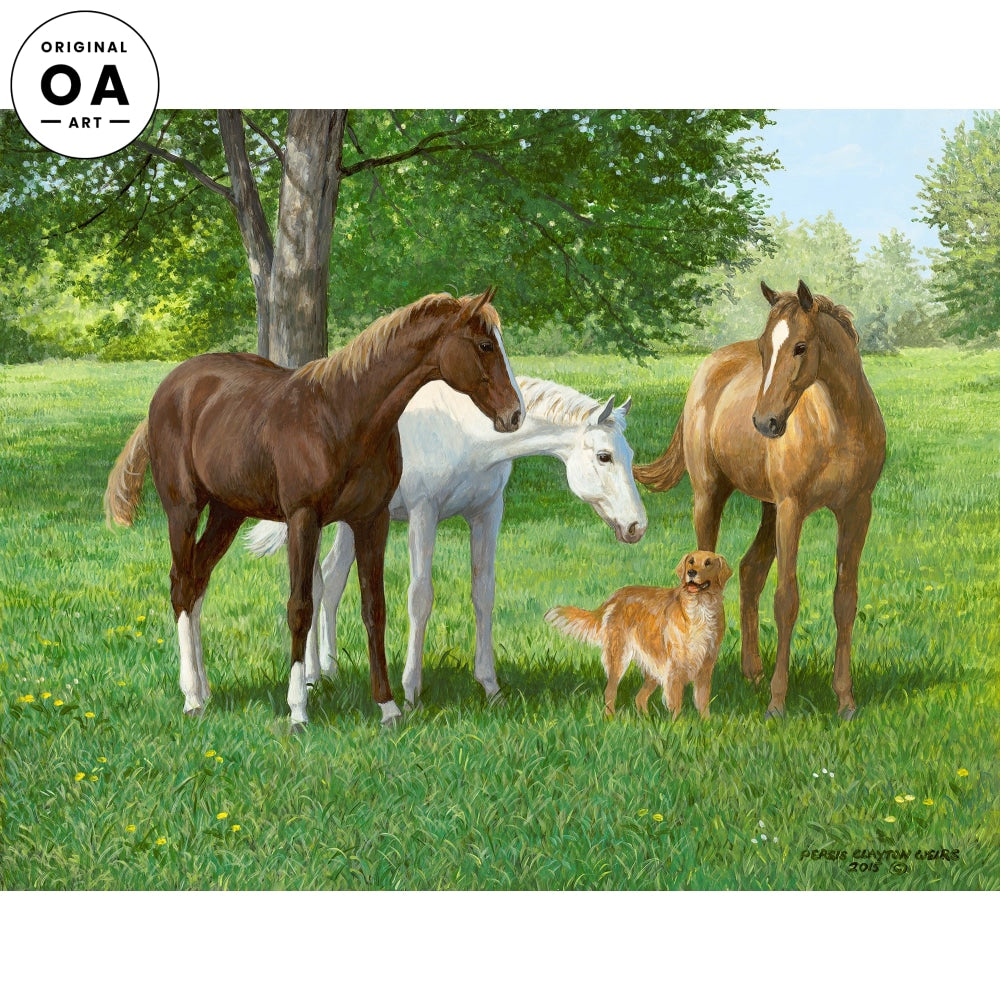 Yearlings—Horses Original Artwork