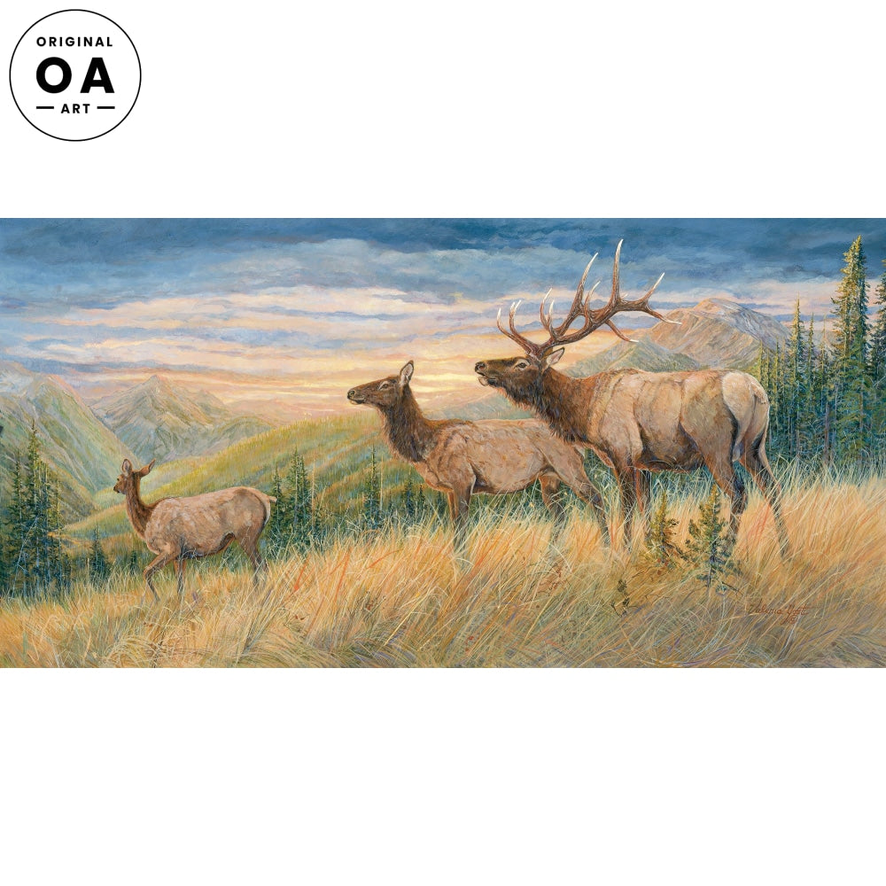 <I>Back Talkin&mdash;elk</i> Original Artwork Acrylic Painting