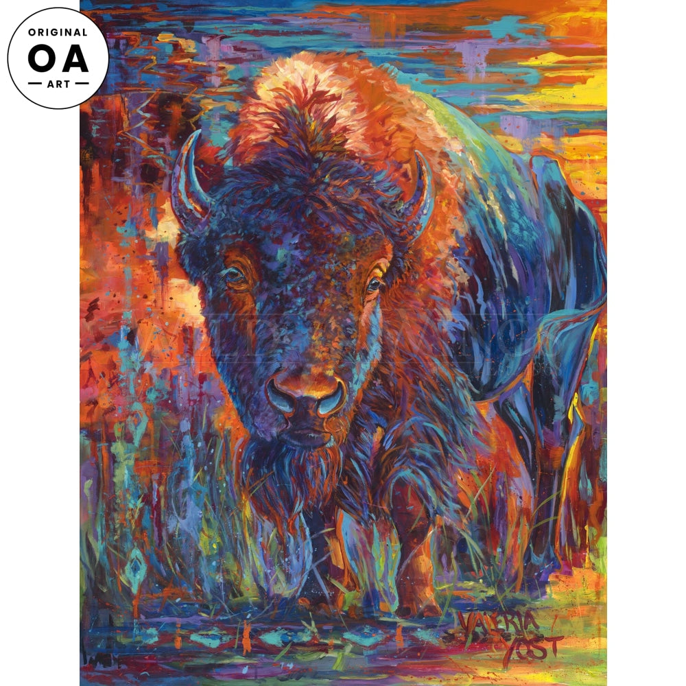 Buffalo Original Acrylic Painting