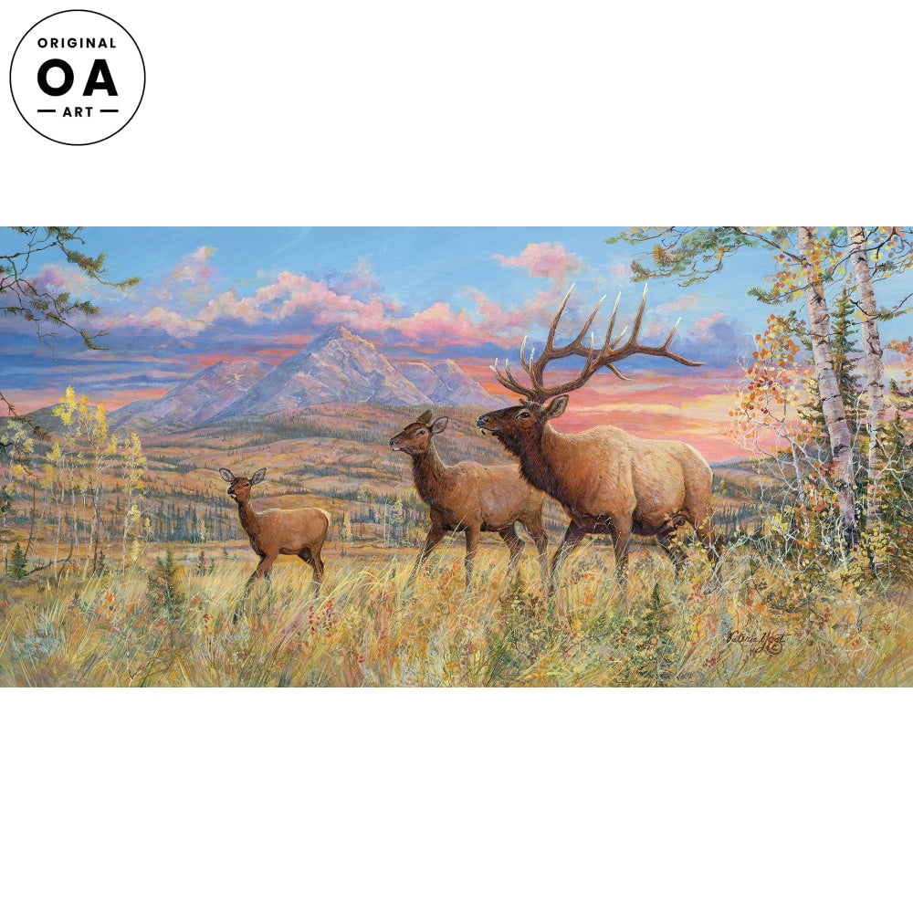Royal Courtship—Elk Original Artwork