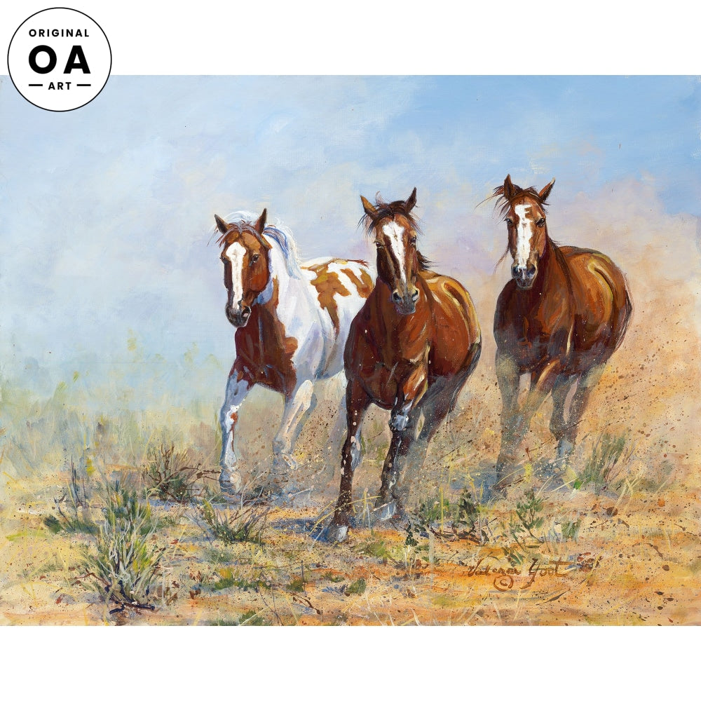 Sage Rush Run—Horses Original Artwork