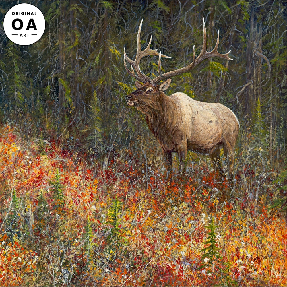 Tapestry—Elk Original Artwork