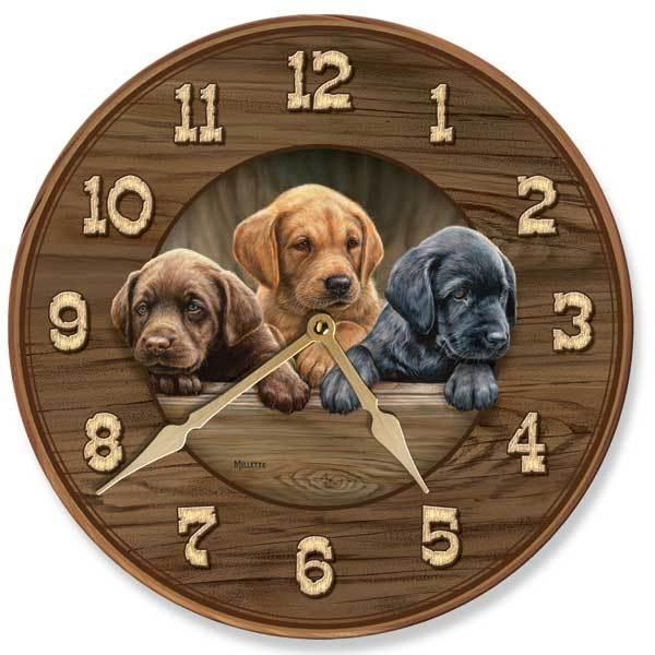 All Hands On Deck—puppies 11 Round Clock