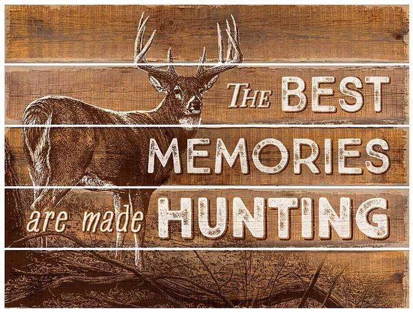 Best Memories Made Hunting 18 X 24 Pallet Art Sign