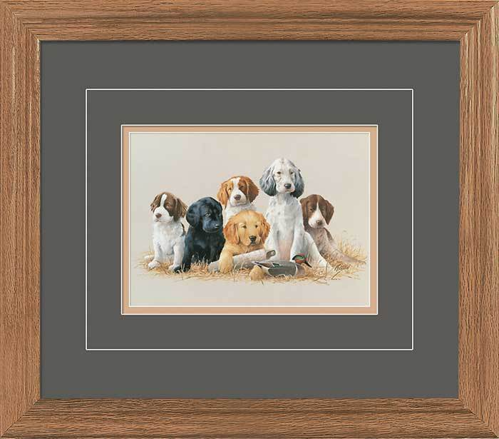 School Daze&mdash;puppies Gna Deluxe Framed Print<Br/>16.5H X 18.5W Art Collection