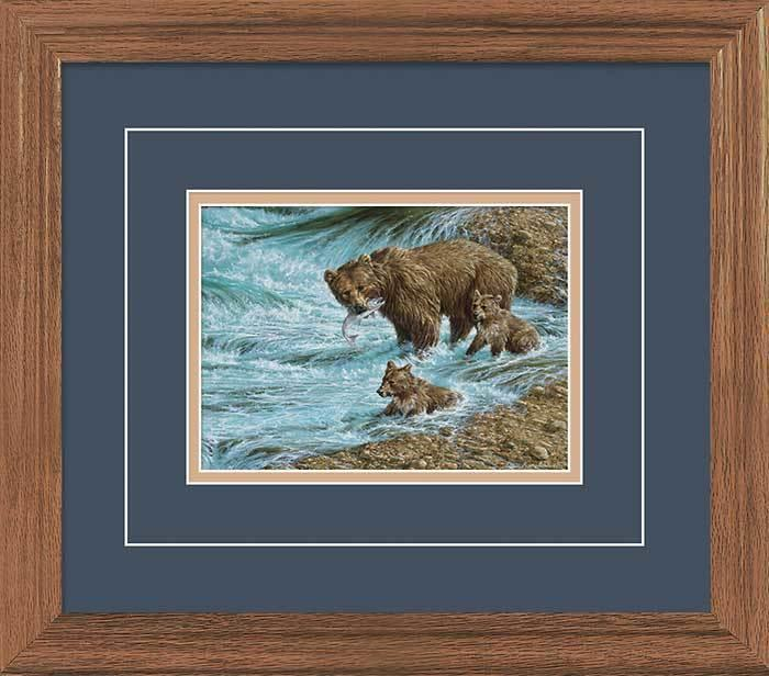 Alaskan Brown Bear—grizzly Gna Deluxe Framed Print