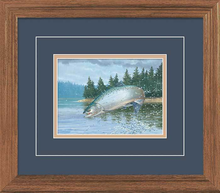 Leaping Coho—salmon Gna Deluxe Framed Print