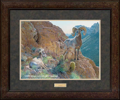 <I>Overseer&mdash;desert Bighorn Sheep</i> Gna Premium+ Framed Print<Br/>29H X 35W Art Collection