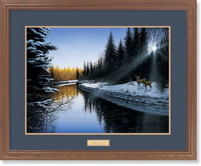<I>An Evening Along The River</i> Gna Premium Framed Print<Br/>25H X 31W Art Collection