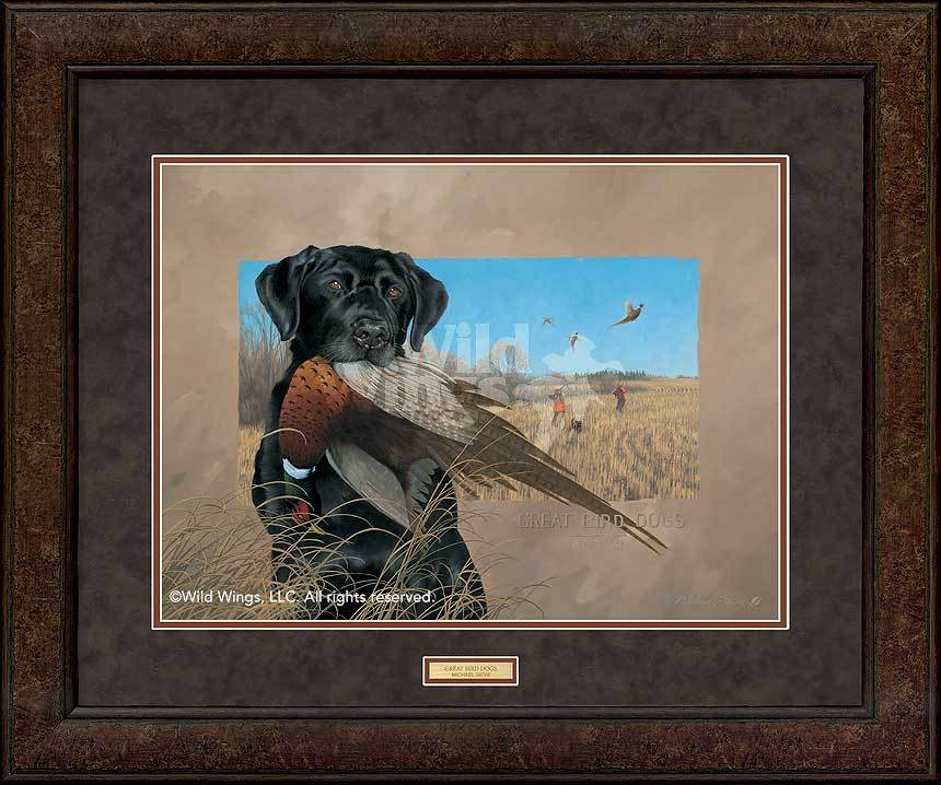 <I>Great Bird Dogs&mdash;black Lab</i> Gna Premium+ Framed Print<Br/>29H X 35W Art Collection